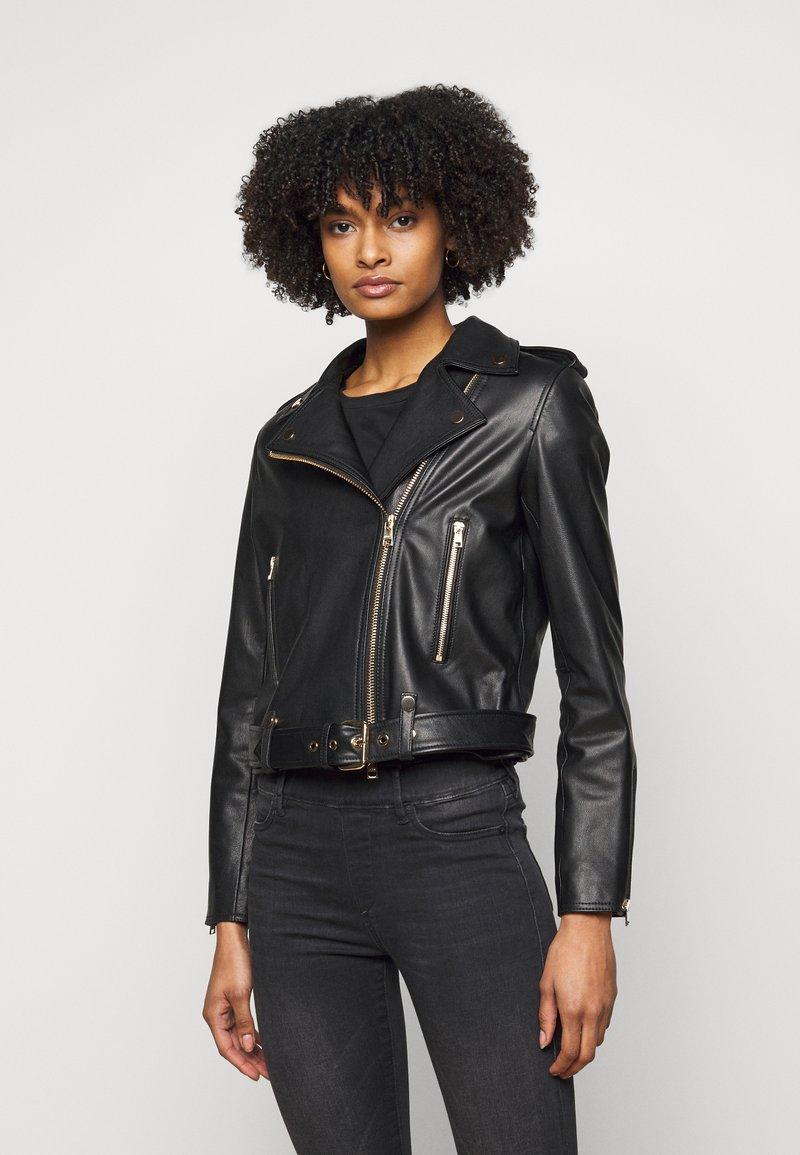 LIU JO - CHIODO - Leather jacket - nero