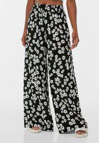 Bershka - Pantalon classique - black/white - 0