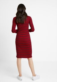 Supermom - DRESS STRIPE - Jersey dress - tango red - 2