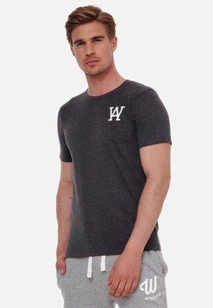 T-shirt print - dunkelgrau weiß