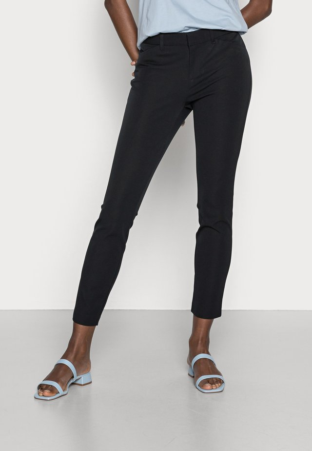 ANKLE BISTRETCH - Trousers - true black