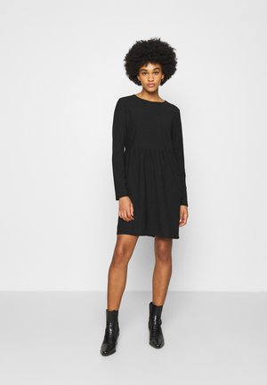 VINEYA O NECK DRESS - Day dress - black