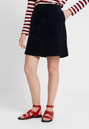 SKIRT CORDUROY STYLE CHINO DETAIL - A-line skirt - midnight blue