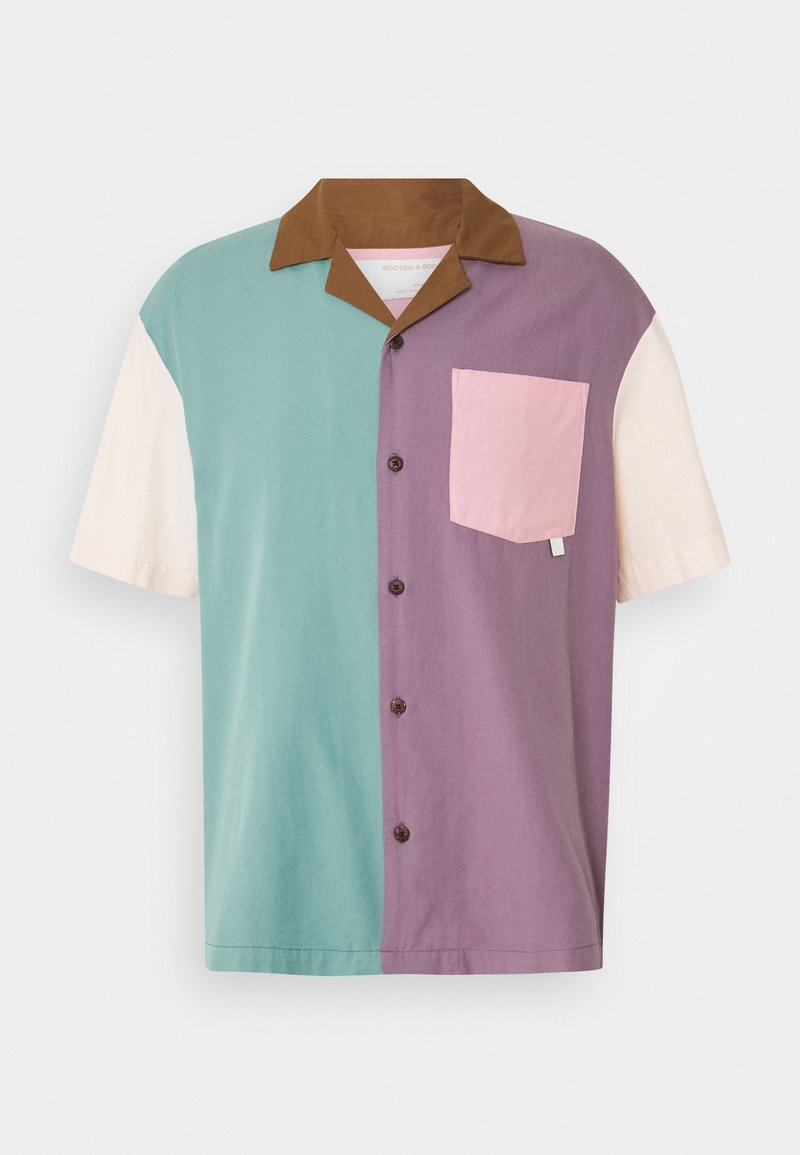 Scotch & Soda - HAWAII FIT BLEND SHORTSLEEVE COLOUR BLOCK  - Shirt - light blue/multicolor
