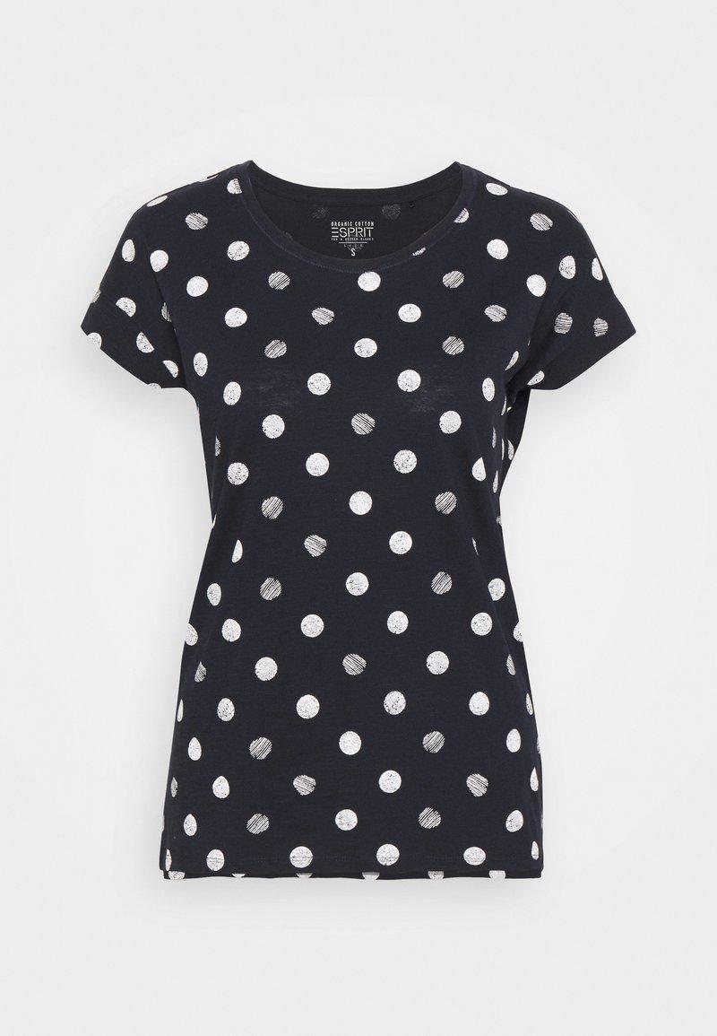 Esprit - CORE - Print T-shirt - navy