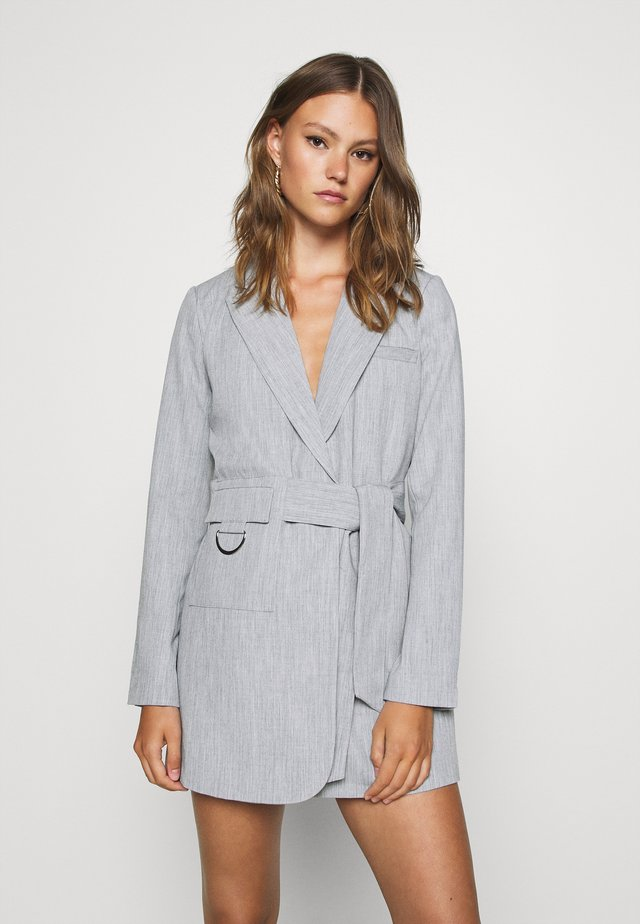 RUBY BLAZER DRESS - Shirt dress - grey