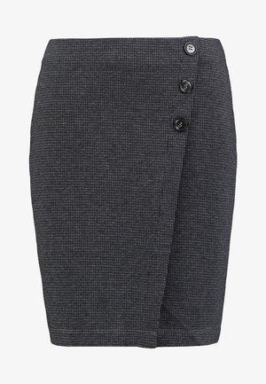 JAQUARD SKIRT - Pencil skirt - grey/blue