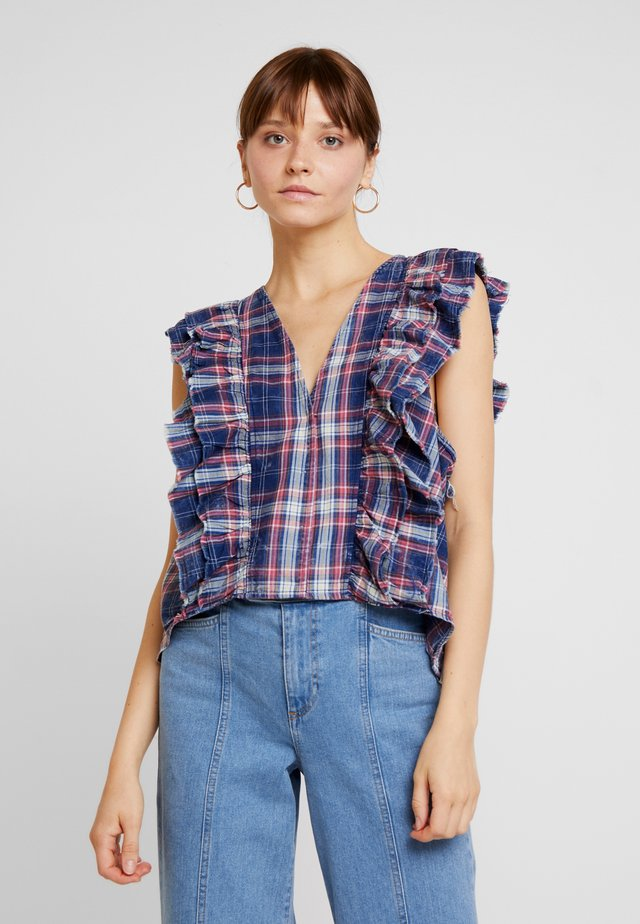 VINTAGE CHECK SOFIA - Bluser - blue/red