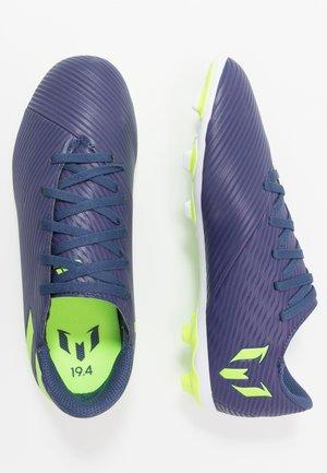 NEMEZIZ MESSI 19.4 FXG - Moulded stud football boots - tech indigo/signal green/glow purple
