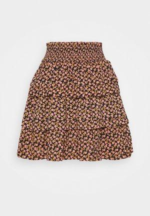 YASNANNA SKIRT - Mini skirt - black/nanna