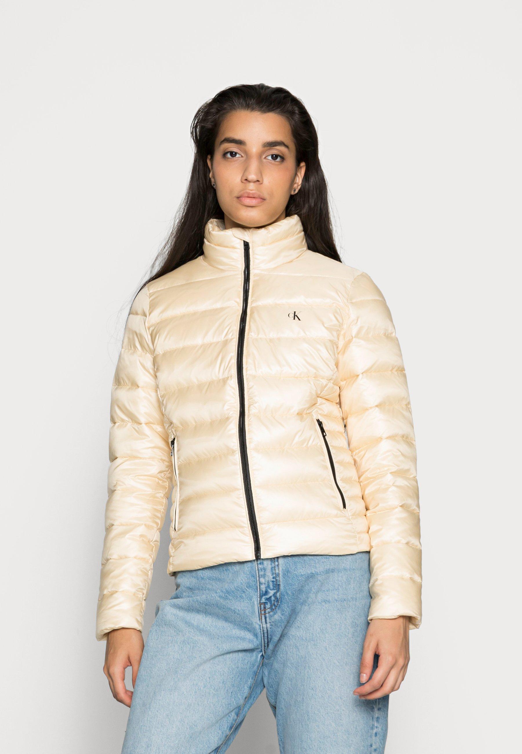 Women BACK LOGO ELASTIC MOTO JACKET - Winter jacket