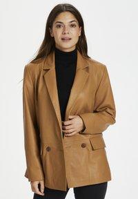 Karen by Simonsen - Leather jacket - tobacco brown - 0