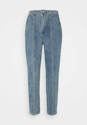 SEAM PANEL DETAIL  - Jeans straight leg - blue