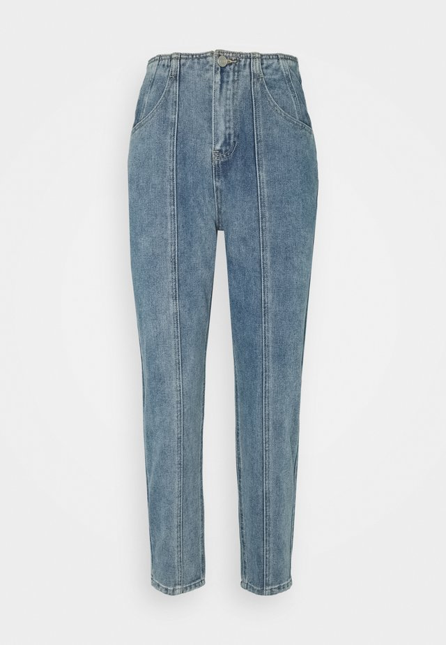 SEAM PANEL DETAIL  - Straight leg jeans - blue