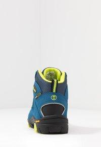 TrollKids - KIDS LOFOTEN MID - Hiking shoes - blue/lime - 4