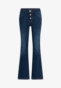 WE Fashion - Flared Jeans - dark blue