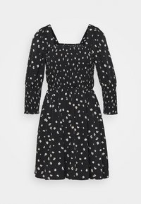 Vero Moda - VMLINEA MINI DRESS - Denní šaty - black - 4