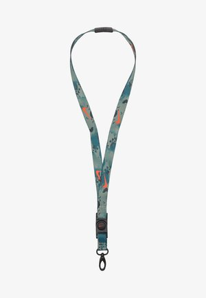 PREMIUM LANYARD - Other accessories - black/chile red/white