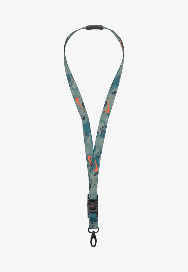 PREMIUM LANYARD - Nøkkelring - black/chile red/white