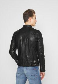 Goosecraft - MADRID BIKER - Leather jacket - black - 2