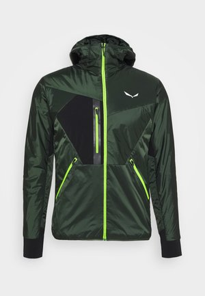 PEDROC HOOD - Down jacket - deep forest