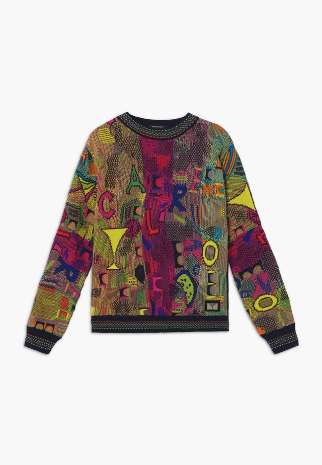Sweter - navy multicolor