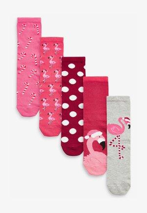 5 PACK - Socks - pink