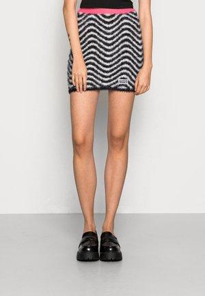 SOUL SKIRT - Mini skirt - black/white