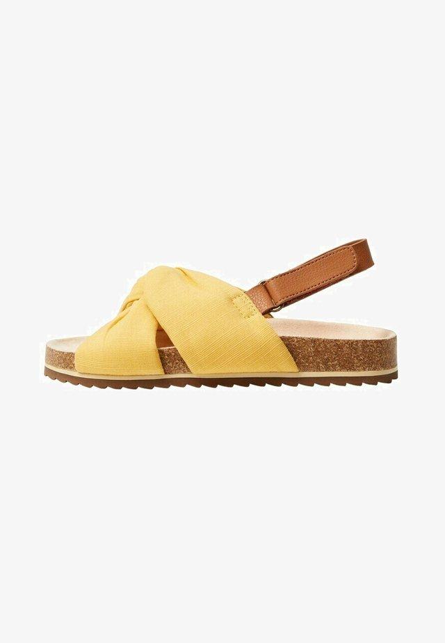 Sandalen - senfgelb
