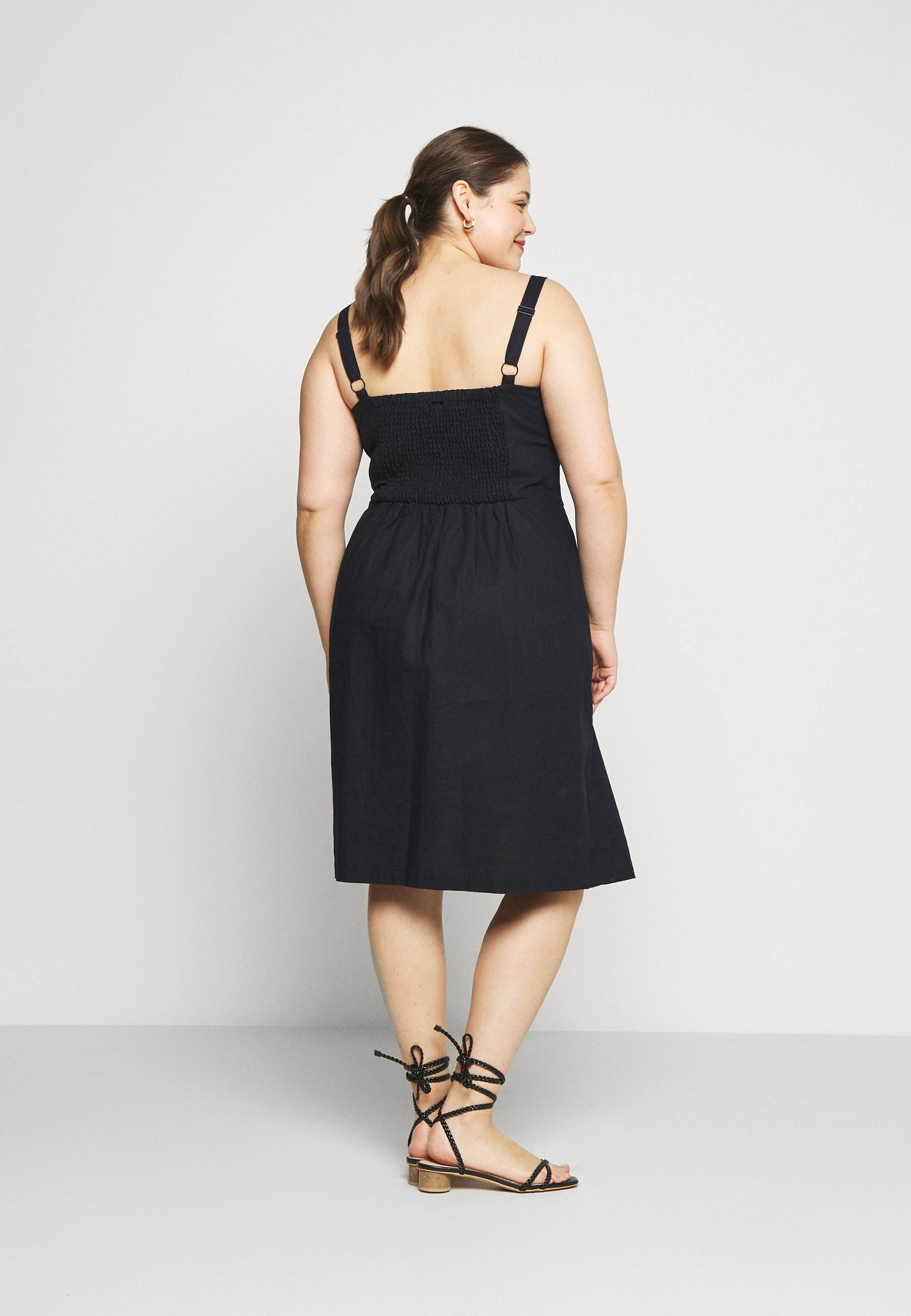 City Chic Dress Sweetly Tied - Day Navy
