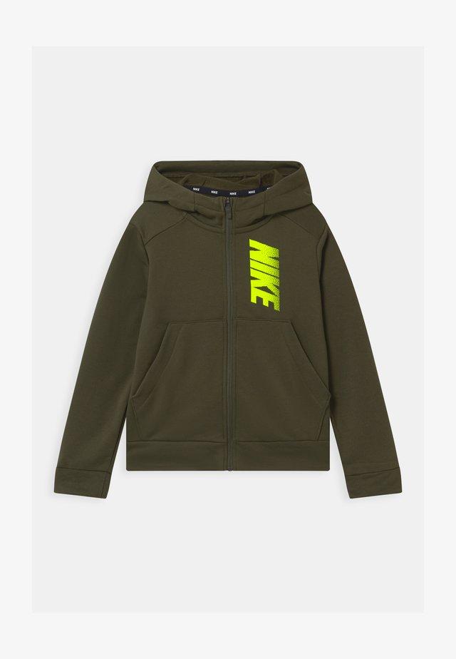 veste en sweat zippée - cargo khaki/volt