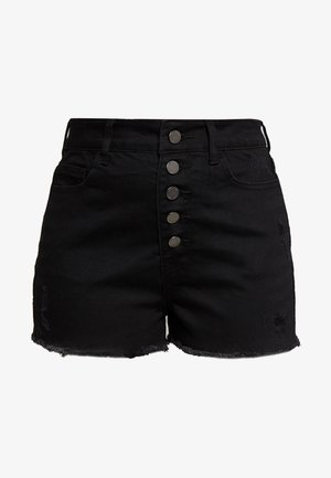 BUTTON FRONT MOM SHORT - Shorts - black