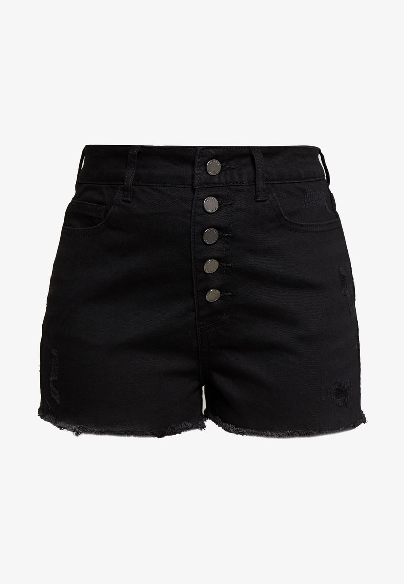 Lost Ink Petite - BUTTON FRONT MOM SHORT - Shorts - black