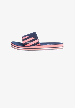 Badslippers - blue, light pink