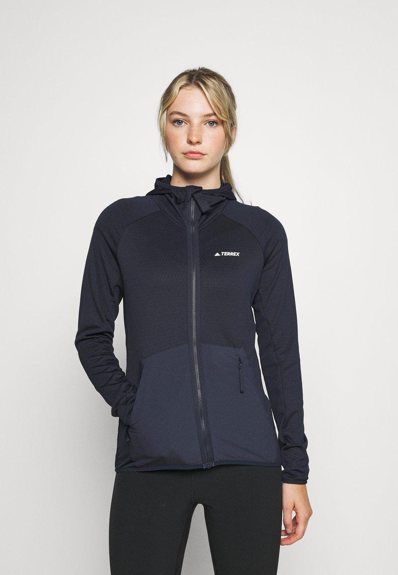 adidas Performance - TERREX TECH LITE HOODED - Fleece jacket - legend ink