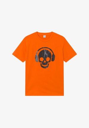 TEENS SKATE FLIP SEQUIINS - Print T-shirt - orange