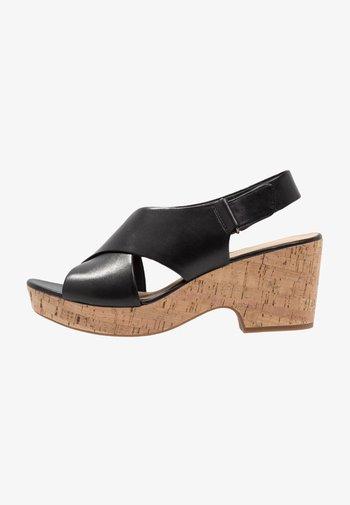 MARITSA LARA - Platform sandals - black