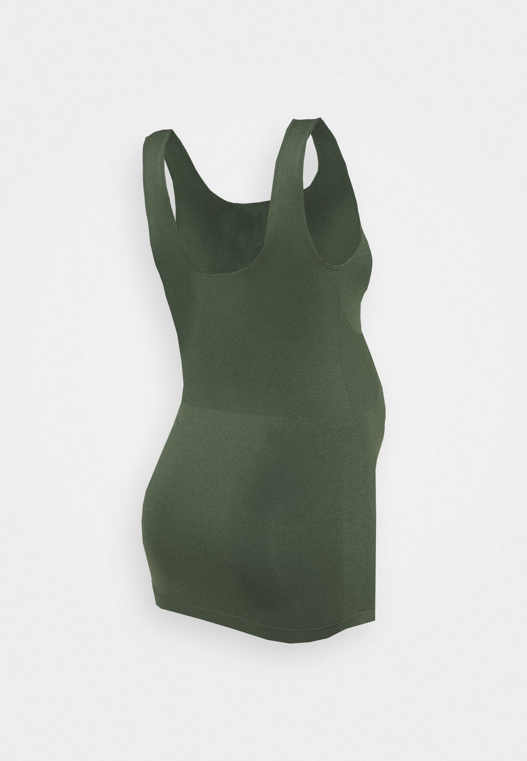 Mamalicious Mlheal Tank - Topper Thyme/mørkegrønn