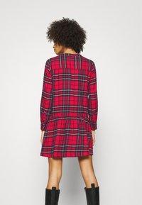GAP - DRESS PLAID - Shirt dress - red - 2