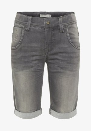 Denim shorts - medium grey denim