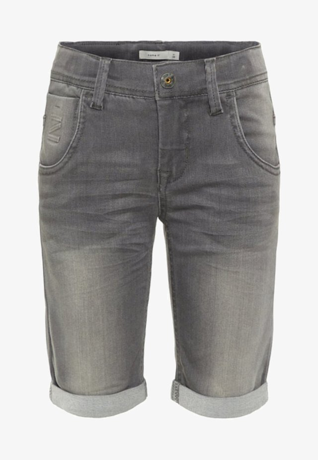 Farkkushortsit - medium grey denim