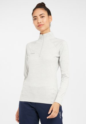 SKIROLLI DIANTHUS - Long sleeved top - heatherwhite