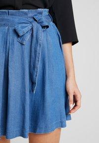 Vila - VIBISTA SHORT SKIRT - A-line skirt - dark blue denim - 4