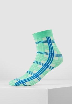 GRETA TARTAN SOCKS - Socks - green/sea blue