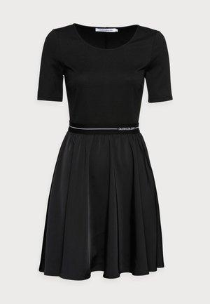 LOGO ELASTIC DRESS - Day dress - black
