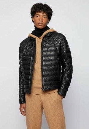 JONN - Leather jacket - black