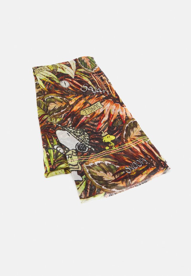 SNOOPYJUNGLE LEAVES - Scarf - olive