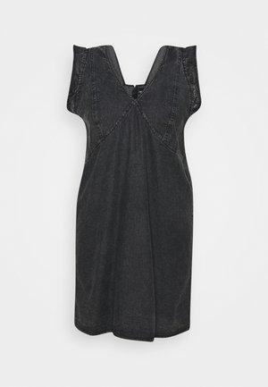 PCLUA MINI DRESS - Denim dress - black
