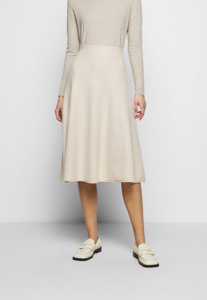 WEEKEND MaxMara - CACHI - Áčková sukně - elfenbein