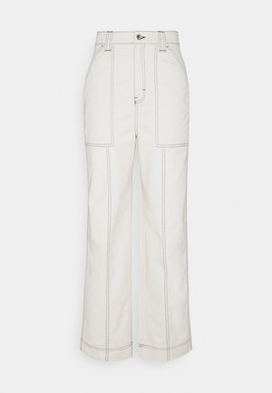 GWYNETH TROUSER - Tygbyxor - cream